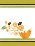 Sunflower Bird Illustration Stock Photo