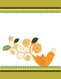 Sunflower Bird Illustration Stock Photo