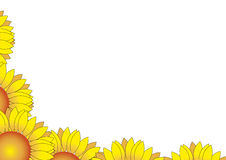 Sunflower border Royalty Free Stock Photos