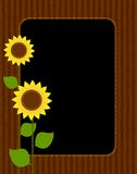 Sunflower border / frame Stock Images