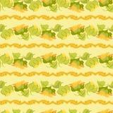 Sunflower border seamless pattern on light yellow background. Yellow orange sunflower border seamless pattern on light yellow background Royalty Free Stock Image