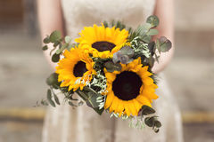 Sunflower bouquet Stock Photo