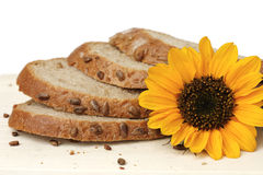 Sunflower bread Stock Image