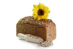 Sunflower Bread with Seeds Royalty Free Stock Photo