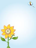 Sunflower card Stock Photo