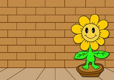 Sunflower cartoon Stock Photography