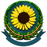 Sunflower cartoon logo Stock Photo