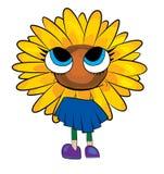 Sunflower cartoon Royalty Free Stock Photography