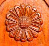 The sunflower carve wall Stock Photos