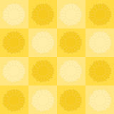 Sunflower checkerboard. Light and dark sunflowers in a checkerboard pattern stock illustration