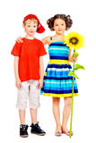 Sunflower childhood Royalty Free Stock Images