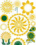 Sunflower Collection Royalty Free Stock Images