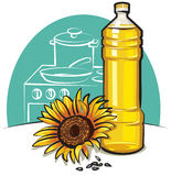 Sunflower cooking oil Stock Image