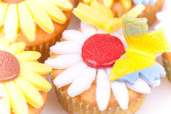 Sunflower cupcakes Stock Photo