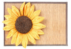 Sunflower decoration on wooden table Royalty Free Stock Image