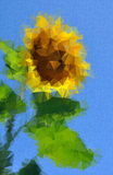 Sunflower decorative. Floral background Royalty Free Stock Image