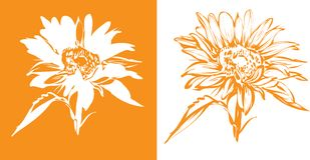 Sunflower design Stock Image