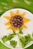 Sunflower dessert Royalty Free Stock Images