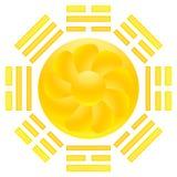 SunFlower Eight Triagrams. Web button illustration Royalty Free Stock Photos