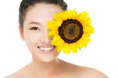 Sunflower eye Royalty Free Stock Photo