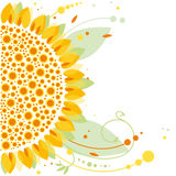 Sunflower, floral design Stock Images