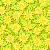 Sunflower flower seamless background Royalty Free Stock Photos
