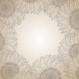 Sunflower frame design Stock Images