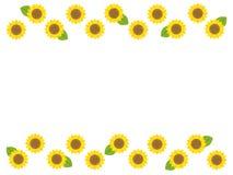 Sunflower frame1 stock illustration