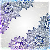 Sunflower frame on the vintage background Royalty Free Stock Photography