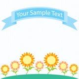 Sunflower garden cartoon Royalty Free Stock Image