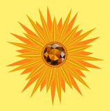 Sunflower with gemstone Stock Photography