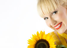 Sunflower girl Royalty Free Stock Photo