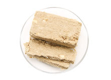 Sunflower Halva with peanuts Royalty Free Stock Photo