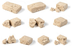 Sunflower halva pieces Stock Photos