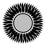 Sunflower icon black color vector illustration flat style image. Sunflower icon black color vector illustration flat style simple image vector illustration