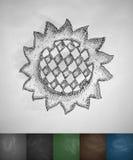 Sunflower icon Royalty Free Stock Photo