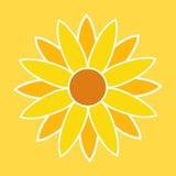 Sunflower Illustration. Sunflower Symbol. Sunflower Sign. Vector.n Royalty Free Stock Images