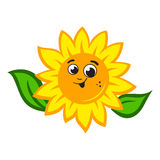 Sunflower logo Royalty Free Stock Image