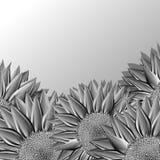 Sunflower metallic icon Stock Photography