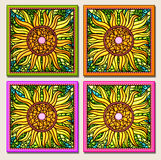 Sunflower multi-mosaic stock images