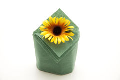 Sunflower with napkin Royalty Free Stock Image