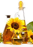 Sunflower oil. On the white Royalty Free Stock Images