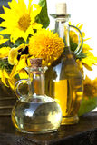 Sunflower and oil Royalty Free Stock Images