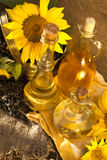 Sunflower and oil Royalty Free Stock Photo