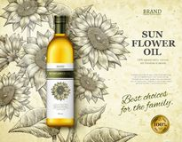 Sunflower oil ads Stock Images