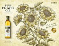 Sunflower oil ads Royalty Free Stock Image