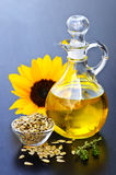 Sunflower oil bottle Stock Photography
