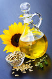 Sunflower oil bottle Stock Photos