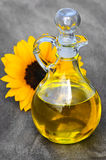 Sunflower oil bottle Stock Images