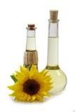 Sunflower Oil in Bottles Stock Photos